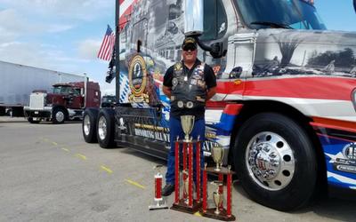 Ride of Pride truck trophies