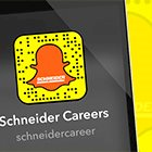 Schneider Careers Now on Snapchat