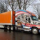 Schneider's convoy that lead Wreath of America into Arlington