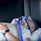 Schneider truck driver using CPAP