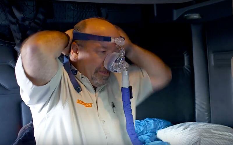 Truck driver sleep apnea