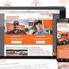 Schneider truck driver website redesign