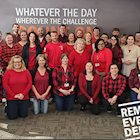 Schneider associates wearing red on Friday to remember everyone deployed