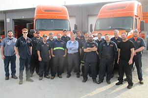 Schneider Diesel Mechanic Students