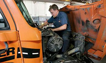 Diesel Mechanic Students