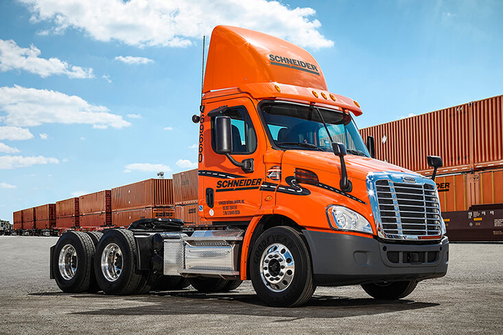 Schneider Local Intermodal Truck Drivers