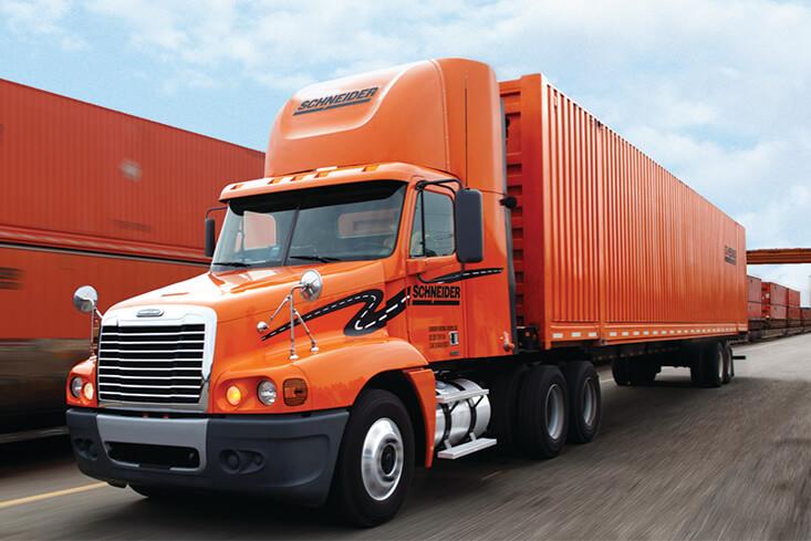 Schneider Solo Intermodal Truck Drivers