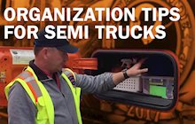 Semi truck organization ideas
