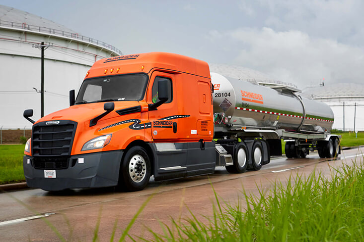 Schneider Solo Tanker Truck Driving Jobs