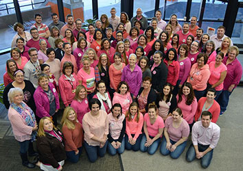 Schneider Finance Associates wear Pink for Breast Cancer Awareness