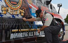 2017 Ride of Pride truck graphics
