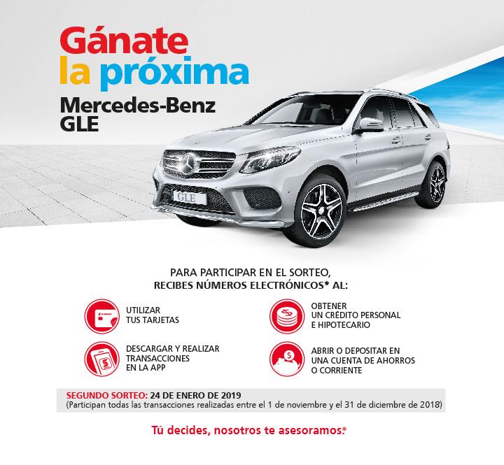 Sé el próximo ganador de una Mercedes Benz GLE