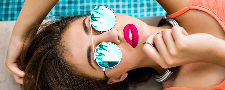 Summer's hottest shades for eyes, cheeks and lips are a day at the beach.