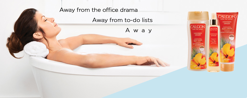 Away from the office drama, away from to-do lists. A  w  a  y