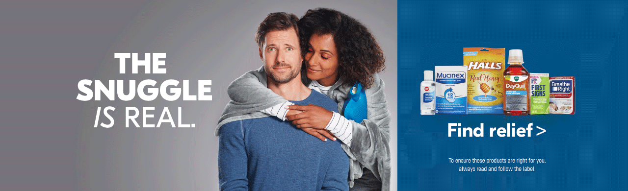 The snuggle is real Caring for someone with a cold? Find relief—for them and for yourself.