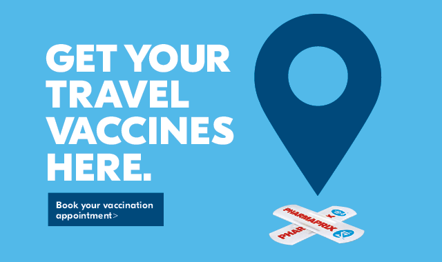 Get your travel vaccines here