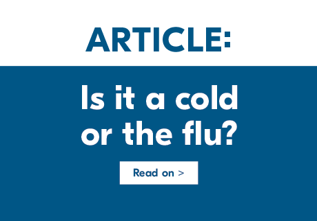 The difference between influenza and the common cold