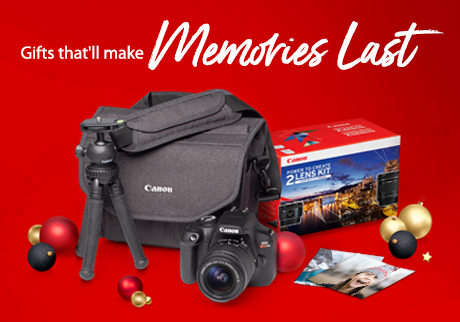 From stunning portraits to epic landscapes, give the gift that'll make memories last with a high-performance Canon camera and lens.