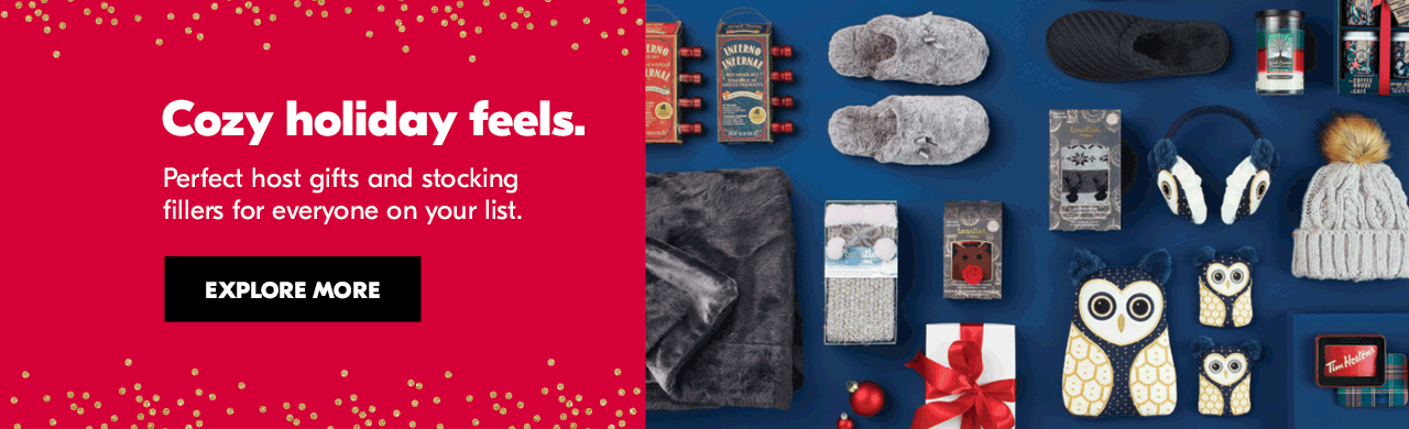 Cozy holiday feels. Perfect host gifts and stocking fillers for everyone on your list. Explore more.