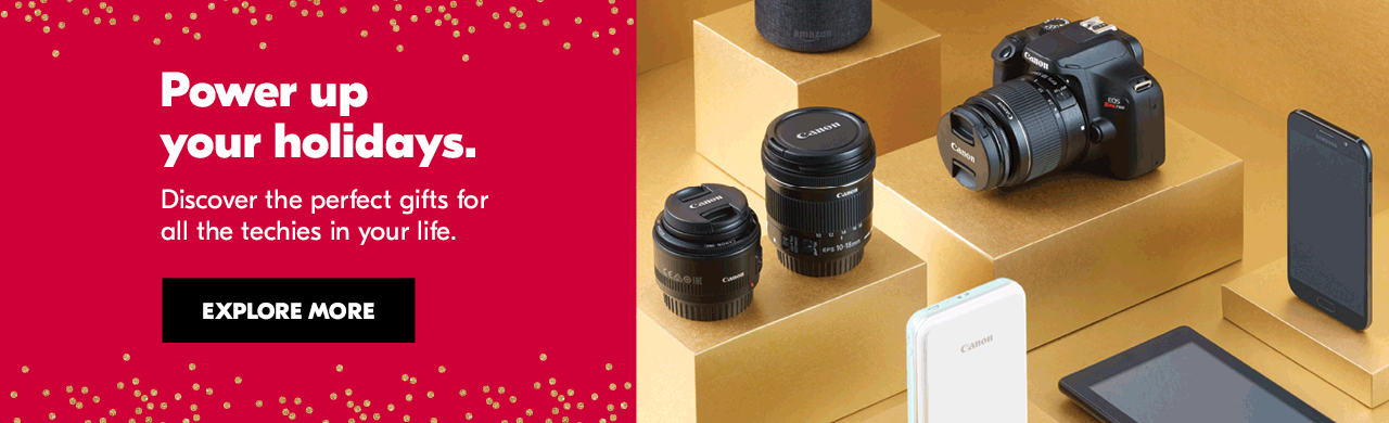 Power up your holidays. Discover the perfect gifts for all the techies in your life. Explore more.