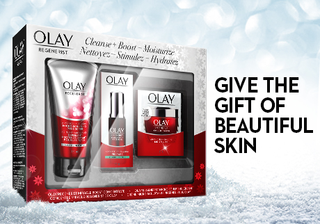 Give the gift of energized, radiant and beautiful skin with the Olay Regenerist gift pack!