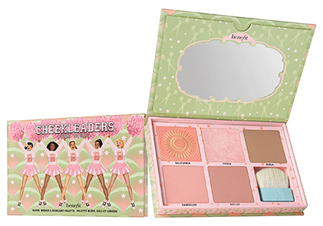 BENEFIT Cheekleaders Pink Squad blush, bronze & highlight palette