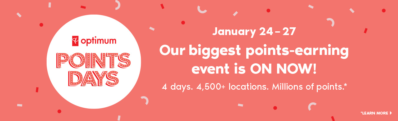 Our biggest points-earning event is ON NOW! 4 days. 4,500+ locations. Millions of points* Learn more