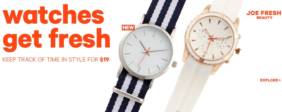 Watches get Fresh
