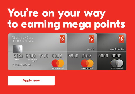 You're on your way to earning mega points. Apply now.