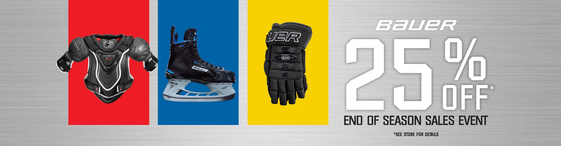Save 25% Off Selected Bauer Hockey Skates, Protective Equipment, and Goalie Gear at Source For Sports.