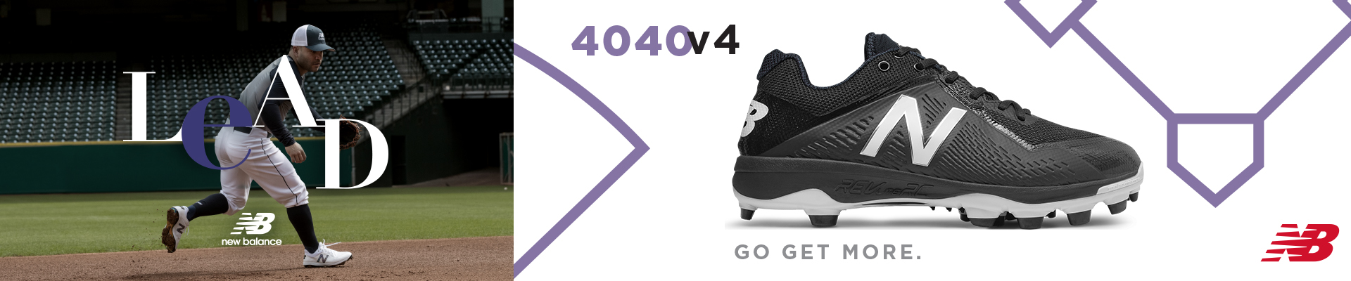 Find the New Balance 4040v4 baseball cleats available for sale at Source For Sports