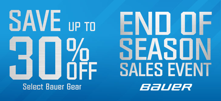 Save Up To 20% off Selected Bauer Hockey Equipment including hockey skates, hockey sticks, hockey protective, goalie gear and more.