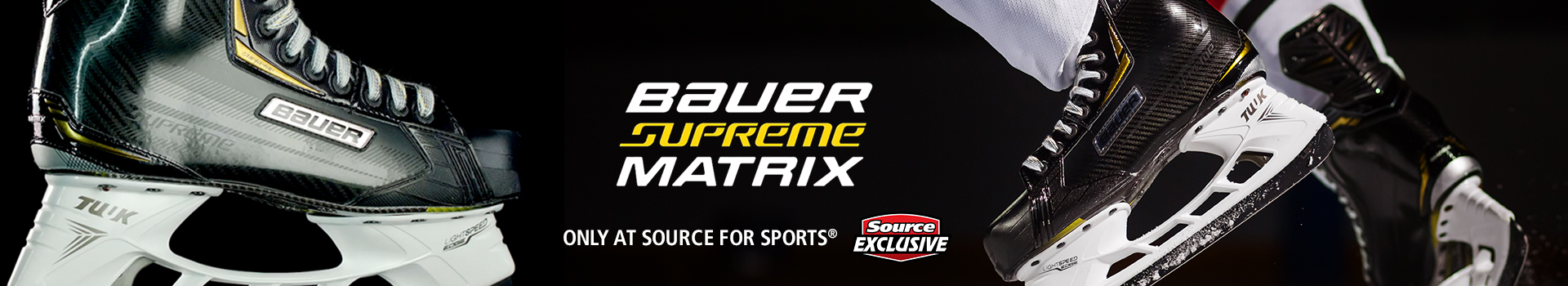 Shop our selection of Bauer Supreme Source Exclusive hockey skates available for sale today at your local Source For Sports near you.