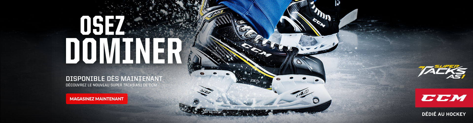 Find the all-new CCM Super Tacks AS1 hockey skates available for sale at Source For Sports today near you.