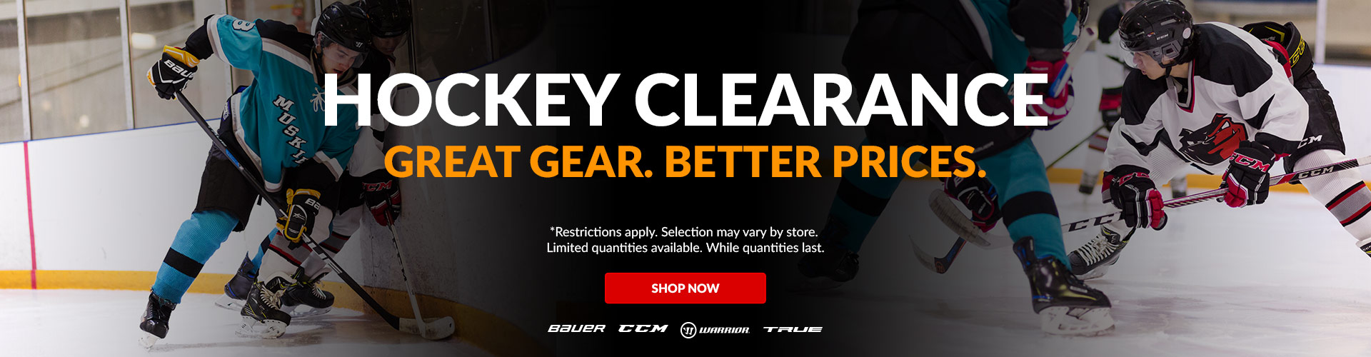 Shop Clearance Hockey Sticks, Skates, Helmets, & Protective Equipment Available For Sale Online & In Store At Your Local Source For Sports Store Near You.