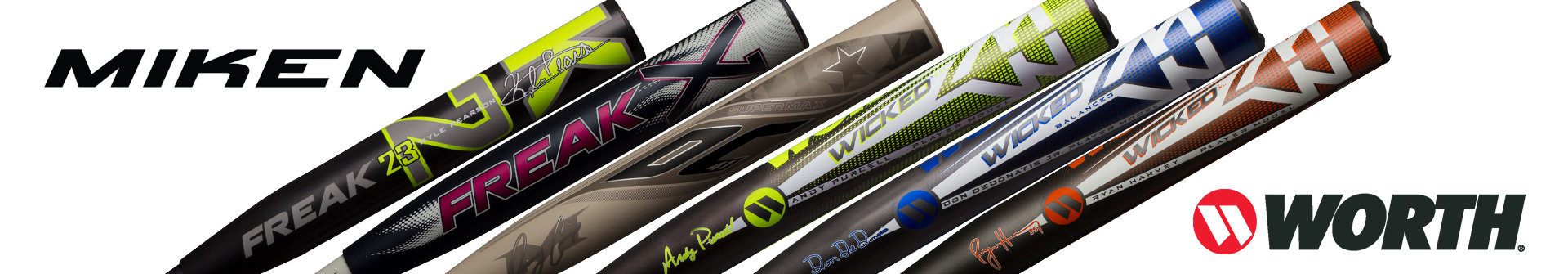Elevate Your Game With The New Softball Slo-Pitch Bats From Miken & Worth Available For Sale At your Closest Source For Sports Baseball Store Near You