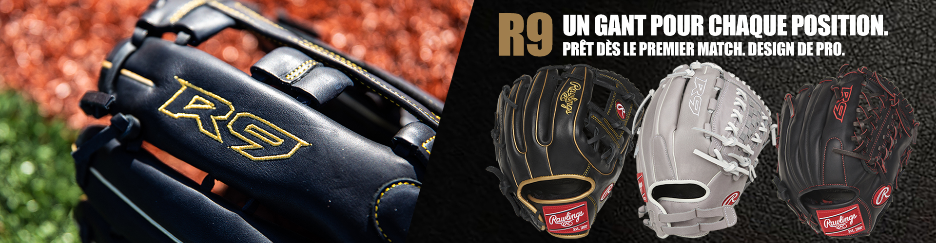Shop Rawlings Beball Gloves Including The Versatile R9 Glove Available for Baseball and Softball. Let's Find What Fits Your Game This Season At Source For Sports.