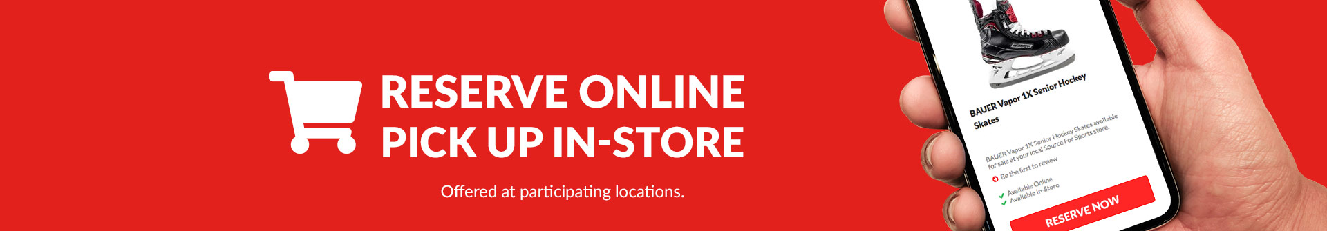Shop In-Store and Online At Participating Source For Sports Stores.