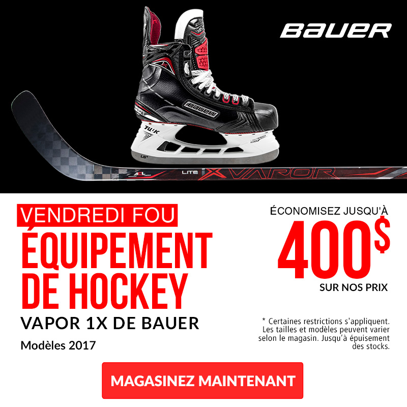 Save Up To $400 Off Bauer Vapor 1X Equipment 2017