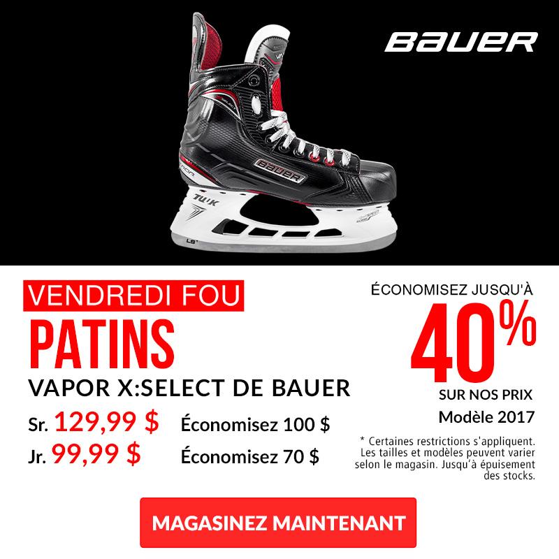 Save Up To 40% Off Bauer Vapor X:Select Hockey Skates 2017