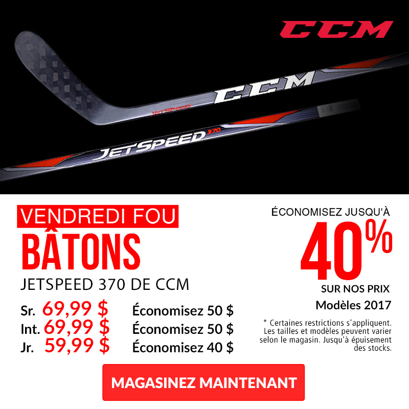 Save Up To 40% Off CCM JetSpeed 370 Hockey Sticks 2017