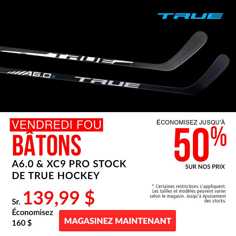 Save Up To 50% Off TRUE Hockey A6.0 and XC9 Pro Stock Hockey Sticks