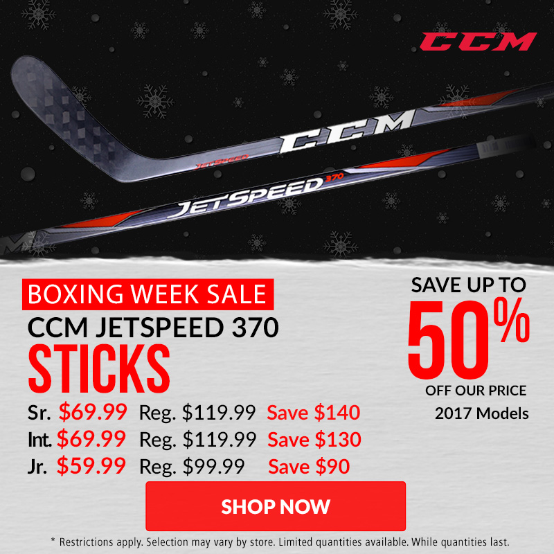Save Up To 40% Off CCM JetSpeed 370 Hockey Sticks 2017