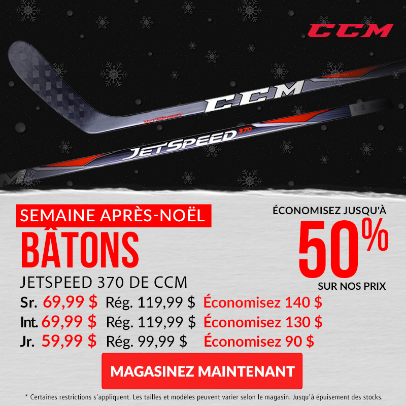 Save Up To 50% Off CCM JetSpeed 370 Hockey Sticks
