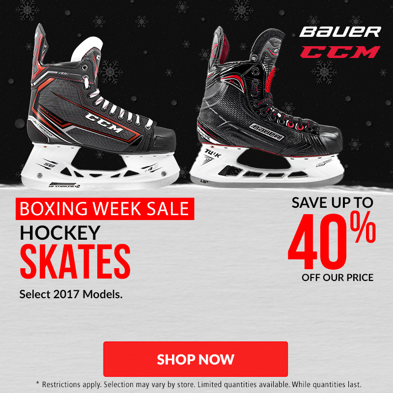 Save Up To 40% Off Hockey Skates