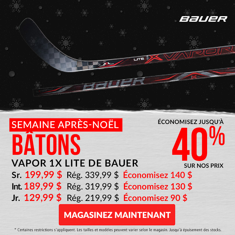 Save Up To 40% Off Bauer Vapor 1X Sticks