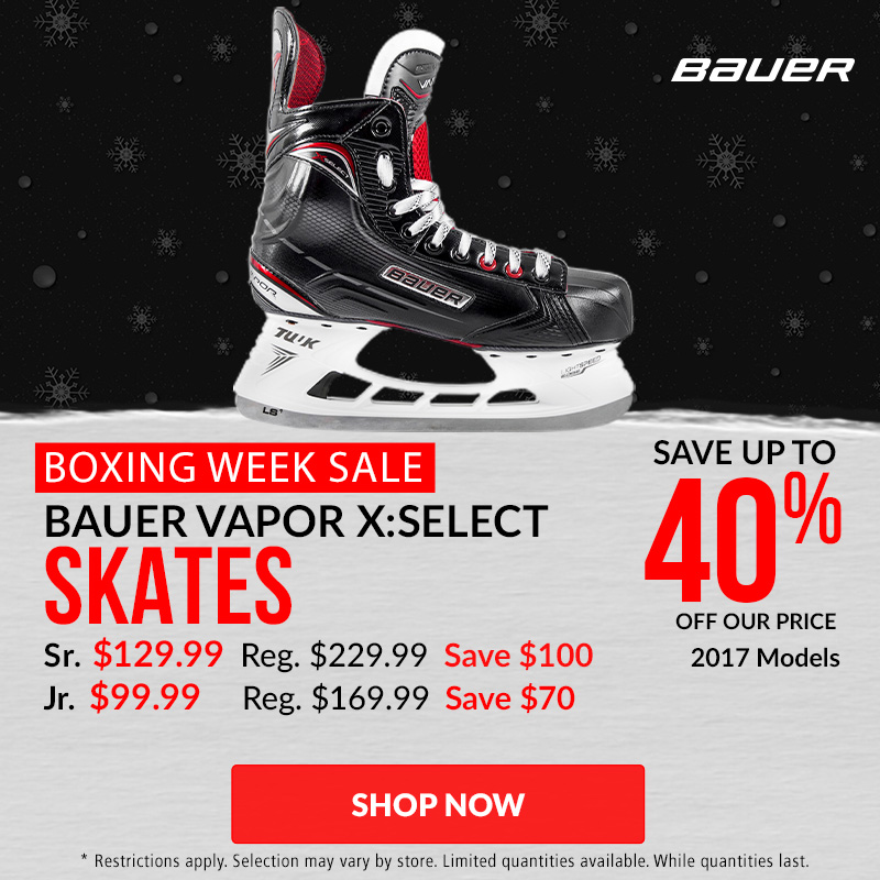 Save Up To 40% Off Bauer Vapor X:Select Hockey Skates 2017