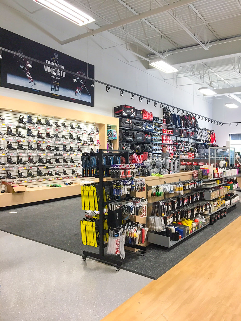 Hockey Skates, Sticks, and equipment available for Sale at Cleve's Source For Sports, Saint John, New Brunswick