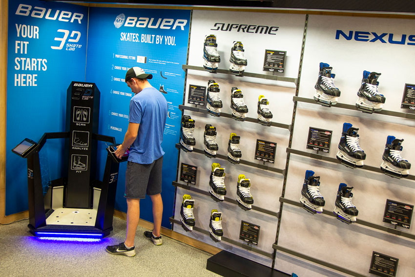 Experience Bauer's Skate Lab before trying on your next pair of Bauer Vapor, Supreme, or Nexus Hockey Skates