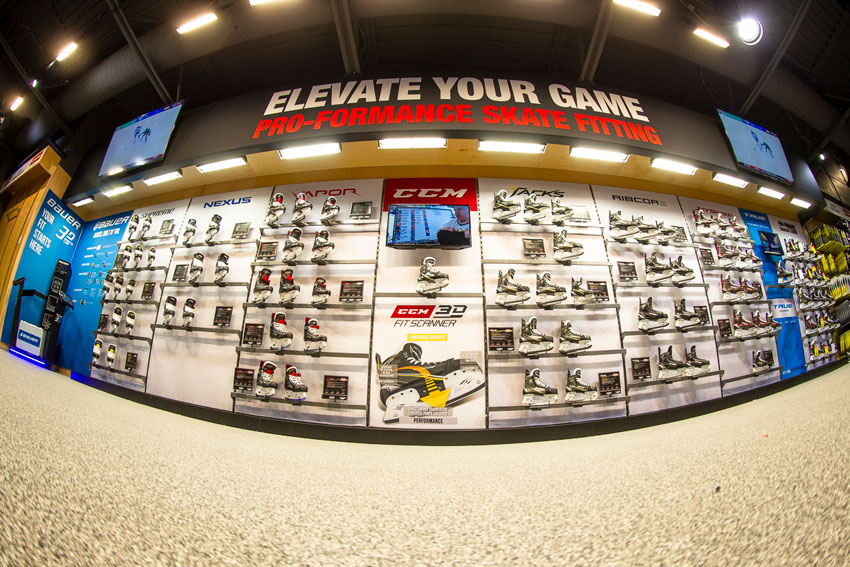 Find your next pairs of hockey skates from Bauer, CCM, or TRUE Hockey at The Hockey Shop Source For Sports, Surrey.